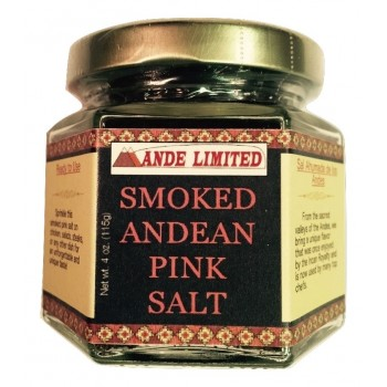 Smoked Andean Pink Rock Salt - 4 oz jar