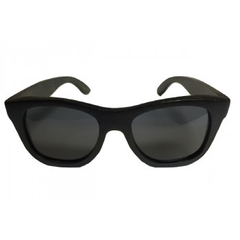 SOPHISTICATED - Wooden Sunglasses in Black Stained Bamboo Wood