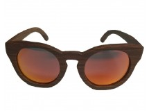 CHEERFUL - Wooden Sunglasses in Red Rose Wood
