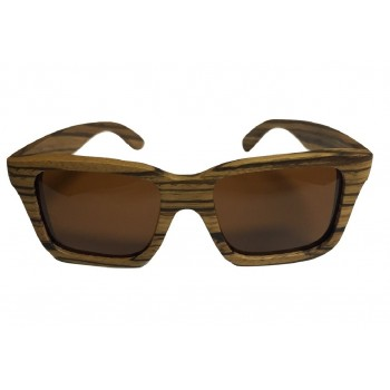 Wooden Sunglasses in Zebra Wood