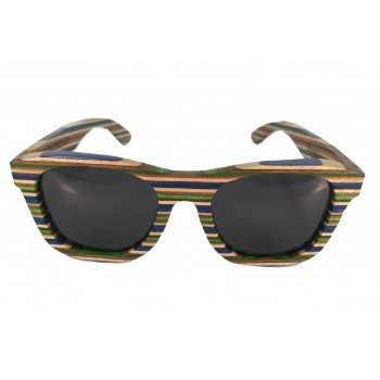 RAINBOWOOD - Wooden Sunglasses in Skateboard Wood