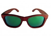 Wooden Sunglasses in Red Bamboo Wood